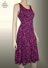 NEW $79.99 BANANA REPUBLIC Women Dress XS BLUE PINK Sleeveless Knee Flared