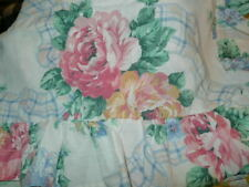 """Cottage Garden King Size Ruffled Pillow Sham 32"""" x 27"""" Jc Penney Shabby floral"""