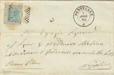 GG166-CAMPANIA, DENTECANE, NUMERALE A PUNTI PER NAPOLI, 1869