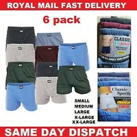 6 Pairs Men's Plain Boxer Shorts Underwear, SockStack Cotton Boxers S M L XL