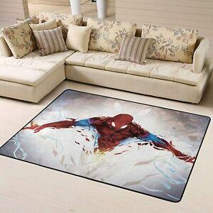 Marvel Spider Man Cartoon Large Rug Soft Floor Mat Living Room Bedroom Carpet