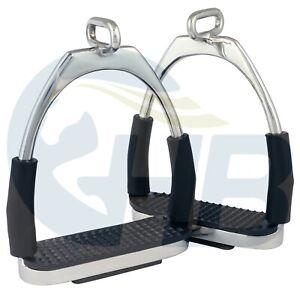 Silver Offset Eye Flexible Stirrups Stainless Steel Stirrups Silver Stirrups