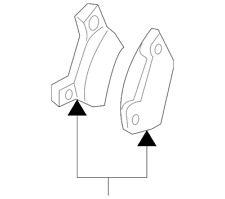 Genuine Ford Brake Pads 8L2Z-2V200-A