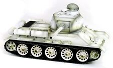 Taigen Hand Painted RC Tank T34/85 White Winter Camo - Full Metal - 2.4GHz.