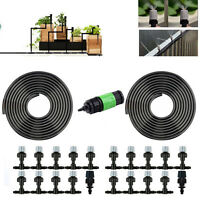20m/66' Hose Home Garden Patio Misting Cooling System 20 Plastic Mist Nozzle Kit