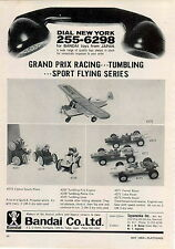 1969 ADVERT Bandai Co Toy Cessna Sports Plane Tumbling Cars Lotus Ferrari Honda