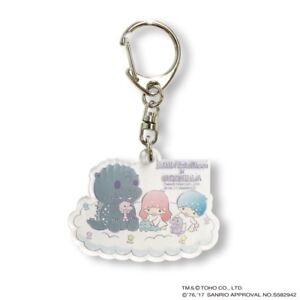 NEW Sanrio collaboration Acrylic key holder Little Twin Stars x Godzilla F/S