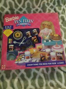 Barbie Fun Fixin' Cake Set - Mattel #67431 New MIB NRFB 3-in-1 Super Set