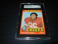 1971 Topps football #13 Buck Buchanan Kansas City Chiefs   graded nm 7
