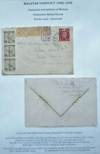 JAPANESE OCCUPATION OF MALAYA 1943 CENSORED COVER FROM SINGAPORE TO KUALA LUMPUR