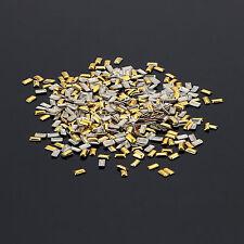 1000 PCS Rivet Nail Art Decoration Metallic Studs Design Silver/Gold Multi Style