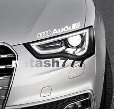 AUDI Vinyl Decal Sticker Performance Sport Car logo WHITE