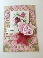 Valentines Day Love 2019 One of a kind Hand Made 3 D Stamped and Die cut Cards