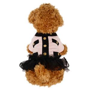 Pink/Black Pet Puppy Small Dog Lace Skirt Princess Tutu Dress Clothes Apparel