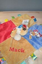 Puppy Dog Taggie Animal Blanket Personalized Security Blanket Baby Blankie