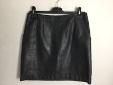 H&M Faux Leather Skirt In Black. Zip Fastening. VGC. UK Size 10