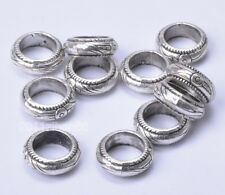 20pcs Tibetan Silver big hole bead charm loose beads 10.7mm B732