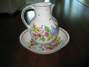 Keramik Austria Ceramic Wash Bowl and Pitcher