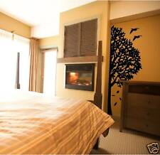 Large HALF TREE wall - home decor REMOVABLE VINYL DECAL