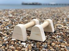 Micro Wooden Parallettes Push Up Bars Gymnastics Yoga Calisthenics Non Slip Feet