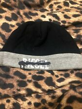 Baby Boys Diesel Hat 0-6 Months Black And Grey