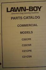 LAWNBOY PARTS CATALOG COMMERCIAL MODELS C20CPR, C20CSR, C21CPN & C21CSN