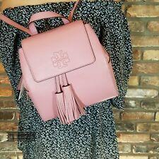 NWT TORY BURCH THEA Tassel MINI Backpack Bag In PINK MAGNOLIA Pebbled Leather