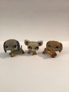Littlest Pet Shop VERY BLEMISHED LOT OF 3 DOG'S
