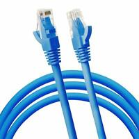 10 ft CAT6 Network Ethernet Patch Cable XBOX PS3 10 feet GIGABIT 500MHz Blue 🔥
