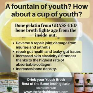 Bone Broth grass-fed Bone Broth COLLAGEN  2 PACK-390 grams per