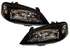 Vauxhall Astra 98-04 G Mk4 Headlights Lamps Replace Black Gsi Smoked Black Pair