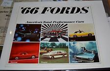 VTG 1966 ADV T-Bird Mustang '66 Fords Americas Total Performance Cars Brochure