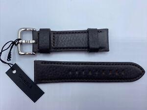 Genuine Shinola Detroit Deep Brown Watch Band Strap Leather 24MM USA MADE 120x8