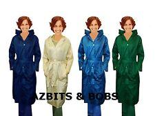 Womens Ladies Waterproof Pac a Mac Rain Coat Jacket Full Lenght Shower Jacket
