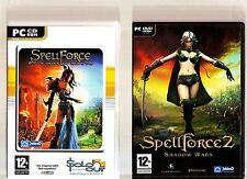 SPELLFORCE ORDER OF DAWN & SPELLFORCE 2 SHADOW WARS. 2 GREAT PC STRATEGY GAMES!!