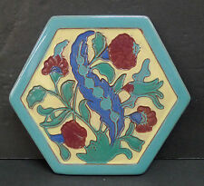 California Faience Vintage Floral Tile
