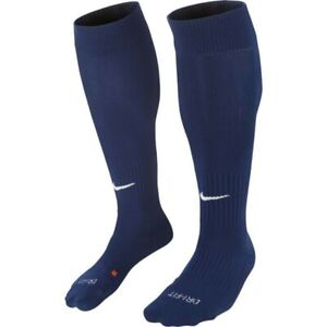 Nike Classic Cushioned Knee High Over The Calf Soccer Socks Navy Blue SX5728-411