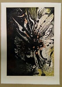 Prassinos Marios (Greek), Bouguet Fleur, signed and numbered etching