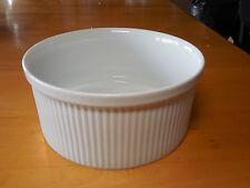 Dansk Japan WHITE BISSERUP 8 in & 7 in Souffle Round Baker Serving Bowls 2 pcs