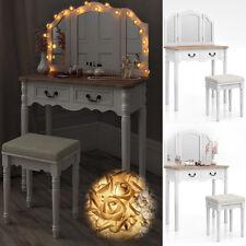 Coiffeuse + tabouret table de maquillage stockage miroir chambre vanité Chaumont