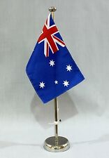 DRAPEAU DE TABLE AUSTRALIE 25x15 cm avec chromé 44 cm Support CHROME DRAPEAU