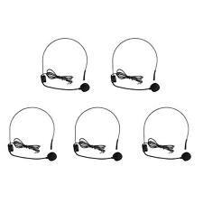5PC Mini 3.5mm Headset Microphone Condenser MIC for Voice Amplifier Speaker Tour