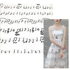 1 Yard Musical Note Spun Embroidered Lace Bridal Wedding Dress Fabric Sparkle