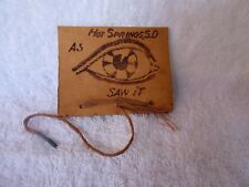 1907 Leather Postcard Letter Holder As I Saw It Hot Springs Sd to Hay Springs Ne