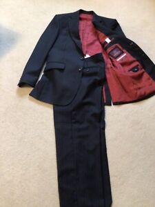 Pure new wool Navy Blue Pinstripe Suit (M&S) 38' jacket 34' trousers