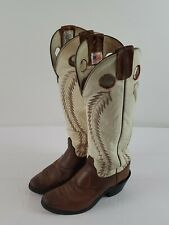 OLATHE Men's Buckaroo Tall Cowboy Work Boots, 7 D, Brown, Bone Style 6906 Fair
