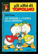 GLI ALBI DI TOPOLINO 902 FEBBRAIO 1972 WALT DISNEY PAPERONE L'ESSENZA CRESCENZA