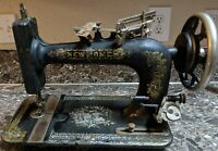 Details about  /Singer 128 Sewing Machine Antique 1925 Bentwood Case Kneebar Key Tested Used