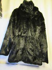 superbe manteau  lapin d'élevage noir SURF COUTURE taille L