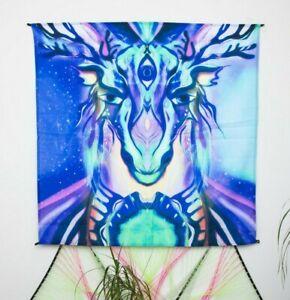 Forest UV Tapestry, Hippie Home Decor, Unique Gift, Fluorescent Art, Fluor Art
